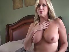 Amazing milf with hot congregation gets creampie from her stepson
