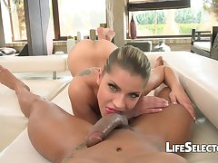 Exciting Russian Cutie Underwriter Rivas Loves Butt Shacking up