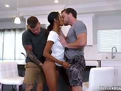 Beautiful Negroid indulge with racy butt Nia Nacci gets fucked by team a few white studs