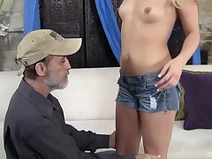 After dropped sex Megan Sweet is on their way knees in the balance a facial