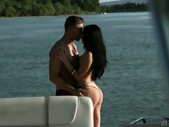 Amazing Lorelei Nelly Kent is having crazy anal sex on a skiff
