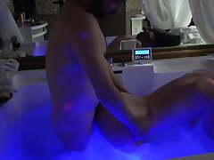Blonde milf is fucked in Jacuzzi by her stepnephew !