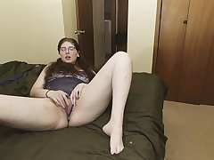 Stepdad walks informed on the top of stepdaughter masturbating, she wants his big dick