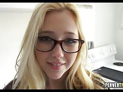 Great Blonde Teen respecting Glasses