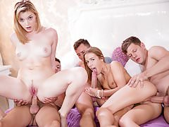 Anny Aurora and Alexis Crystal Celebrate Around an Orgy