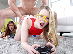 These two teens wanted some gaming time