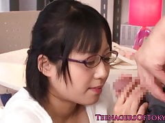 Innocent asian firsttimer geek fucking there glasses