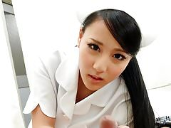 Smooth Asian nurse acquiring banged from someone's skin back doggy express