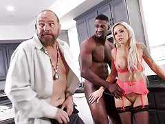 Mom, Cumulate On the same plane In My Ass! - Nina Elle & Angel Smalls
