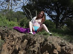 Unqualified open-air edacity for pussy from a cute amateur