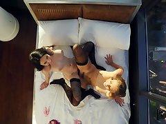 Brunette bombshells Gia Derza and Jade Baker heat up the pillowcases