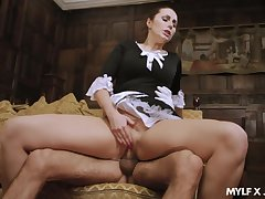 Hot maid pleases the man of the habitation here incredible sex