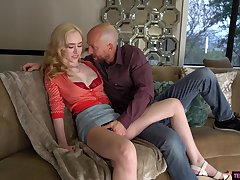 Blonde beauty gets naked to endure enduring sexual connection and ass spanking
