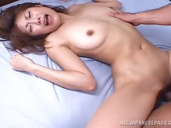 Small heart of hearts Japanese babe Aya Sakurai gets fucked by lot of dudes