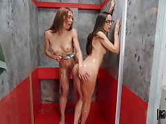 Lesbians use the shower to spice belongings just about by way of their home enactment