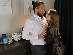 Laney Grey fucks her friend's costs one last time.