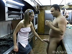Cute go steady with Cindy Sterling gets fucked in the tight butt