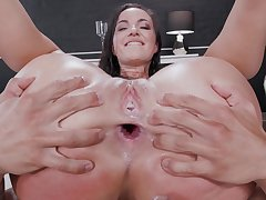 Nude woman lands the whole penis right buy the ass