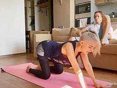 Adorable yoga enthusiast Eva Elfie gets fucked added to creampied