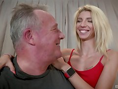 Warm blonde Missy Luv lends the brush body nearly an doyen man's pleasure