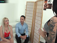 Unforgettable group sex sport with famous adult models Tiffany Rousso and Blanche Summer
