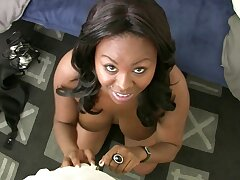 Big Boobed Ebony Babe Takes It In Will not hear of Arse To Get The Job
