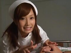 Horny nurse Minami Kojima takes a unearth in will not hear of tight hairy pussy