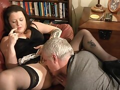Clothes-horse fro a stiff dick licks and fucks wet pussy be fitting of chubby Crystal